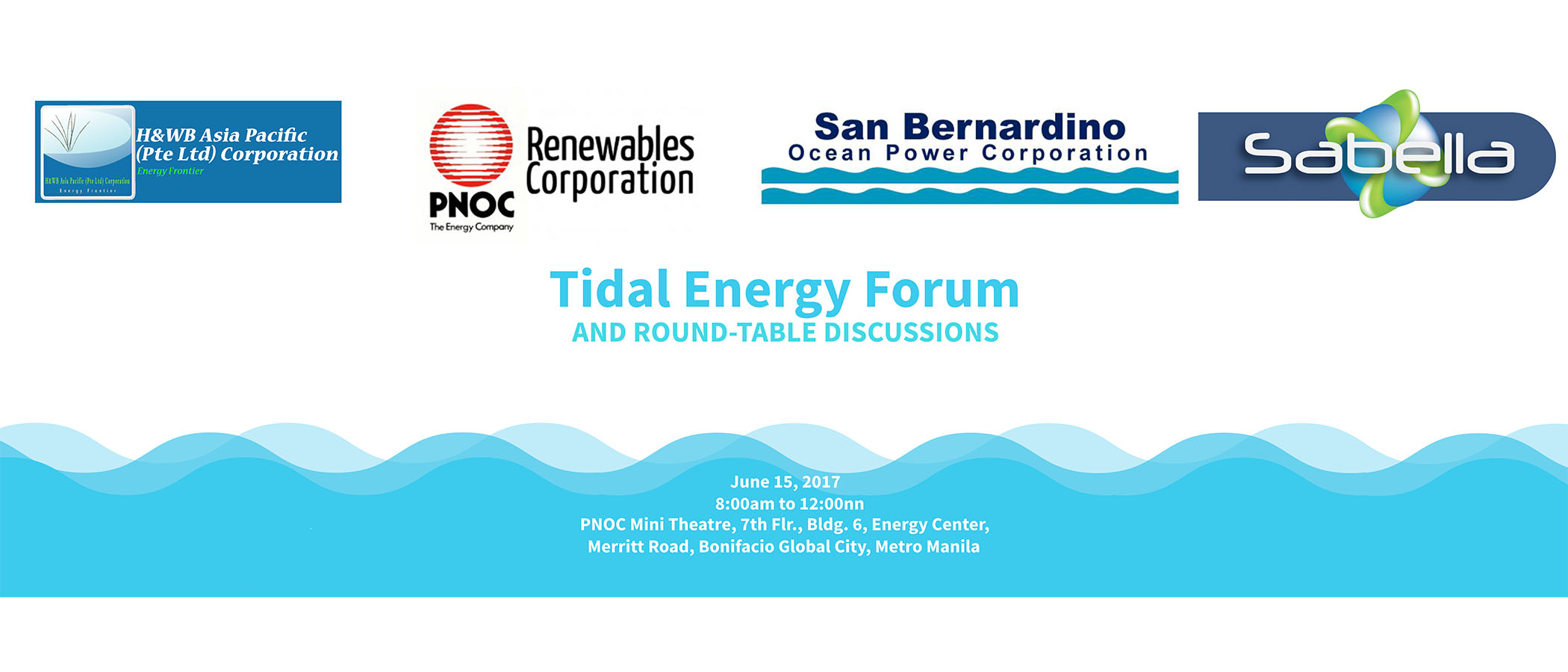 Tidal Energy Forum and Round-table Discussions – H&WB Asia